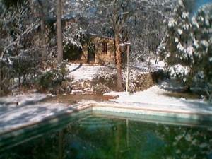 Schnee in der Bergerie