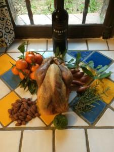 Der Kapaun mit seinen Zutaten