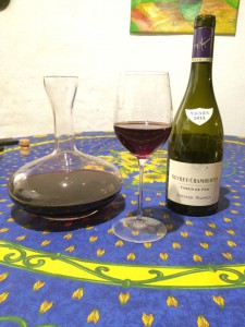 Der passende Wein: ein guter Chevrey-Chambertin